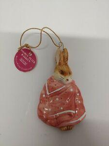 Schmid Beatrix Potter Poorly Peter Rabbit  Christmas Ornament 1984 NEW