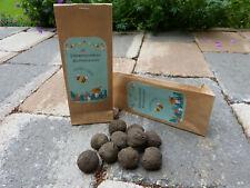 10 Samenbomben in Geschenktüte für Bienen Blumensamen Samen Seedballs Seedbombs