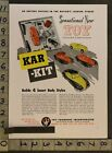 1947 KAR KIT RACE CAR FOUNDER DETROIT TRICYCLE MEMPHIS INDEPENDENT TOY AD TQ26