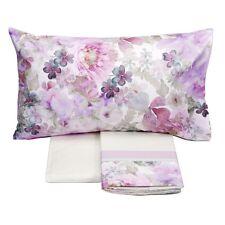 FAZZINI completo lenzuola Maxi matrimoniale MONET rosa raso di cotone