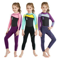 Kids 2.5mm Diving Wetsuit Long Sleeve One Piece UV Protection Surfing Swimsuit