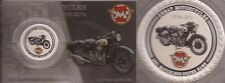 2007 Cook Is Large 1Oz Silver 2$ Motorcycle-1931 Matchless Silver Hawk/cardboard