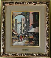 Listed Italian Artist Antonio De Vity(1901-1993) original Oil Painting On Canvas