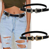 Waist Belt Metal Buckle New Hot Black Leather Western Cowgirl Waistband Women