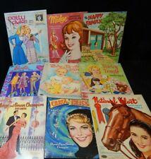 New ListingVintage Whitman Paper Doll Set Lot 9 Pc Patty Duke, Barbie, Shirley Temple, Etc.