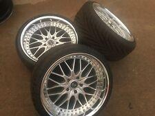 "Rezax JDM 2 II 3pc 19"" Work wheels 5x120 bbs rays ssr weds ccw Toyo Tires(3Rims)"