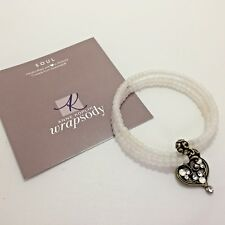 "Anne Koplik Swarovski Crystal Beaded Wrap Bracelet with Heart Charm ""Soul"""