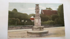OLD POSTCARD - WILTSHIRE -Market Cross and Old Church, Wilton - Shurey's - c1910