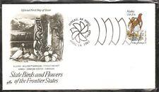 US SC # 1954 State Birds And Flowers ( Alaska ) FDC . Artcraft Cachet 1