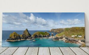 kynance cove panoramic canvas print Cornwall framed picture