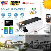 Wifi Wireless 1080P Solar Power IP Camera CCTV Security Night Vision Outdoor