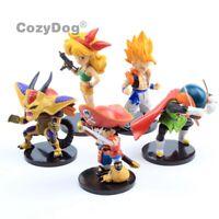 5pcs Dragon Ball Z DBZ Son Goku Pvc Action Figure Figurine Doll Toys Cake Topper
