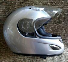 Moto Guzzi full face silver sport bike racing helmet XL