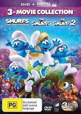 Smurfs /The Smurfs 2 /Smurfs - The Lost Village (DVD,2017,3-Disc Set)(Region 4)