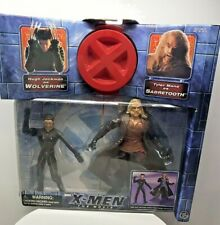 Wolverine X Men and Sabretooth Action Figures 2000 ToyBiz New in Box