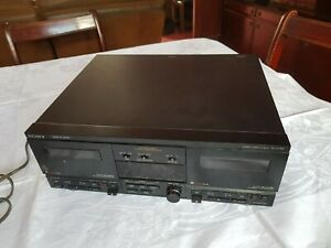 Sony TC-V7700 Stereo Twin Cassette Deck. Vintage Stereo Seperates