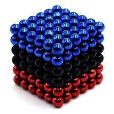 216Pcs 5mm Black+Red+Blue DIY  Magic Beads Magnetic Balls Puzzle
