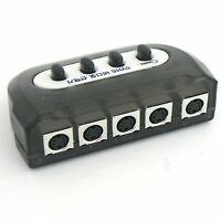 4 Port SVHS S-Video Manual SELECTOR Sharing Switch NEW BOX PC TV 4:1