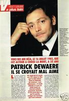 Coupure de Presse Clipping 1992 (3 pages) Patrick Dewaere