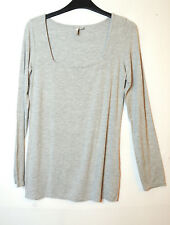 GREY LADIES CASUAL TOP BLOUSE SIZE 8 ASOS STRETCHY