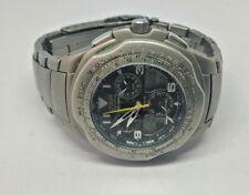 Da Uomo SKYHAWK Cronografo Titanio Citizen allarme watch C650 molto graffiate VETRO