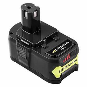 Batterie de Remplacement Ryobi 18V 5.0Ah Li-ion One+ Indicateur de Charge à LED