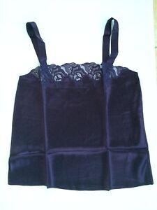 Women Lady Sexy 100% Silk Lace Camisole Tank Top Lingerie Sleepwear Nightwear