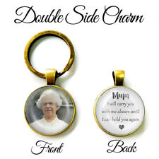 Personalised Double Side Keyring Bereavement Mum Mother Dad Memory Keepsake Gift