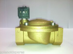 """CEME Solenoid Valves Brass CEME 1 1/2"""" BSP  Normally Closed N/C  8618"""