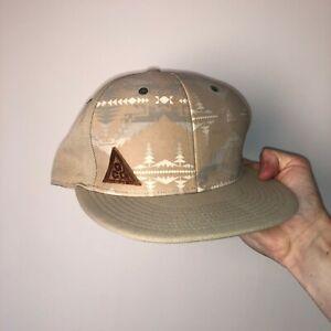 Nike ACG Beige Baseball Cap Hat Retro Snapback Cream Stone 7 1/8 or 57cm
