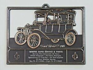 Vtg Advertising Calendar Topper Plastic White's Auto Supply MI 1915 Ford Model T