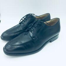 Hickey Freeman Men 9.5 EEE Oxford Dress Shoes Leather Black Handmade Italy