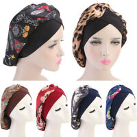 Women Night Sleep Cap Hair Bonnet Chemo Cancer Hijab Turban Arab Head Wrap Hats