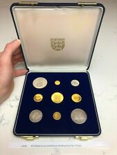 More details for 1972 mixed jersey gold & silver wedding proof set - 9 coins, lot #2