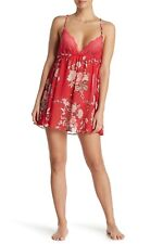 NWT, IN BLOOM BY JONQUIL FLORAL PRINT  CHEMISE, #MGR110, RED/PINK, XL, MSRP $48