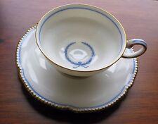 Rosenthal Empire Continental Blue Wreath Ivory Demitasse Cup Saucer Set