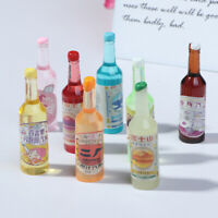 5Pcs 1:12 Dollhouse Miniature Soda Water Bottles Model Dolls Kitchen FoodJ Cw