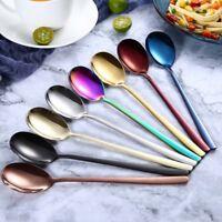Color Dinnerware Cutlery Stainless Steel Food Fork Tableware Spoons Soup Scoop
