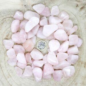 50 x Rose Quartz Crystals Tumblestones Seconds 511g-515g Reiki Healing Wholesale
