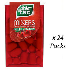 TIC TAC CHERRY COLA 18g x 24 INDIVIDUAL PACKS MINTS SWEETS WHOLESALE 196686