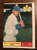 1961 Topps Billy Williams Rookie #141 Chicago Cubs HOF Sharp Corners (mis-cut)