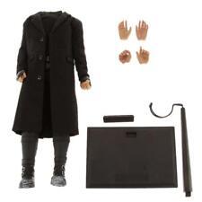 1/6 Male Black Long Coat Boots Vêtements avec Body Fit Hot Toys Head Sculpt