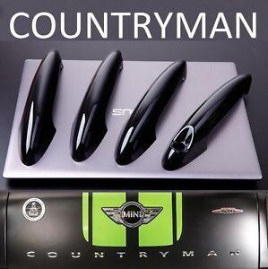US STOCK Set GLOSS BLACK Door Handle Covers MINI R60 11-16 COUNTRYMAN Cooper S