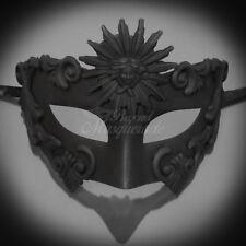 Men's Masquerade Mask, Roman Sun God Masquerade Ball Mask Black M2598