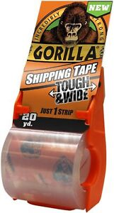 """GORILLA HEAVY DUTY PACKAGING TAPE 2.83"""" X 20 YD NEW WITH REFILLABLE DISPENSER"""