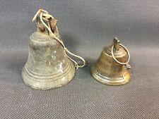 Lot 2 petites cloches de campagne Savoie sonnette maison vintage art populaire