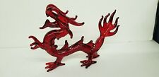 LARGE RED FIRE CRYSTAL CHINA DRAGON
