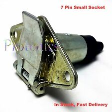 7 Pin Small Round Metal Plug Socket Trailer Boat Caravan Light Connector male