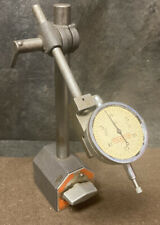 BROWN & SHARPE 599-7744 MAGNETIC BASE STAND B&S W/ Pratt Whitney Dial Indicator