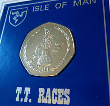 2004 Isle of Man Tourist Trophy Motorcycle Race TT Races 50p Coin Gift Display